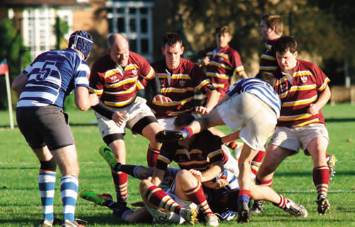 Wandsworthians drive forward against Haslemere RFC October 2014 - Image from Bryn Stocker